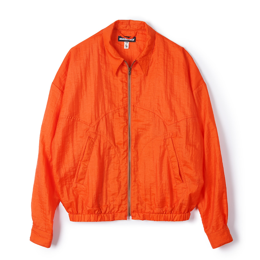 "MONITALY Western Drizzler Jacket ""Taslan Nylon Orange"""