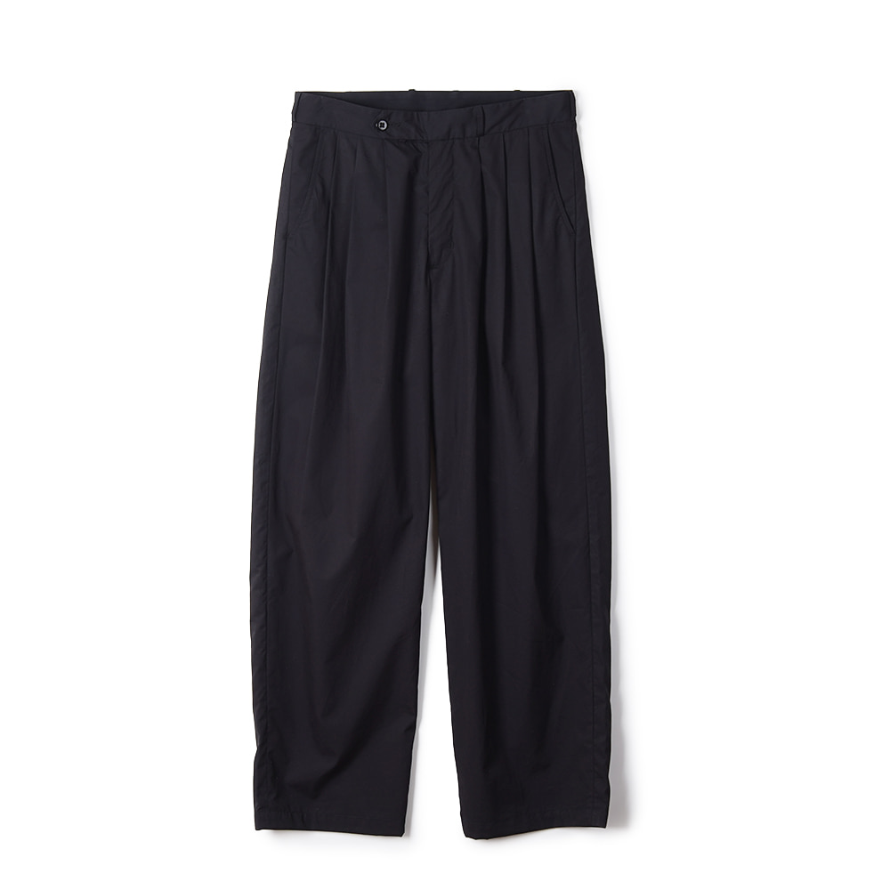 "MONITALY Triple Tuck Wide Pants ""Vancloth Oxford Black"""