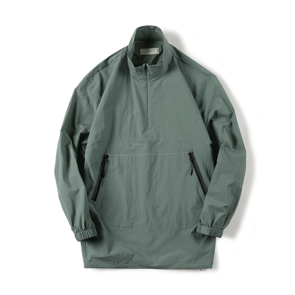 "SHIRTER Zip-Up Anorak Shirt ""Mint"""