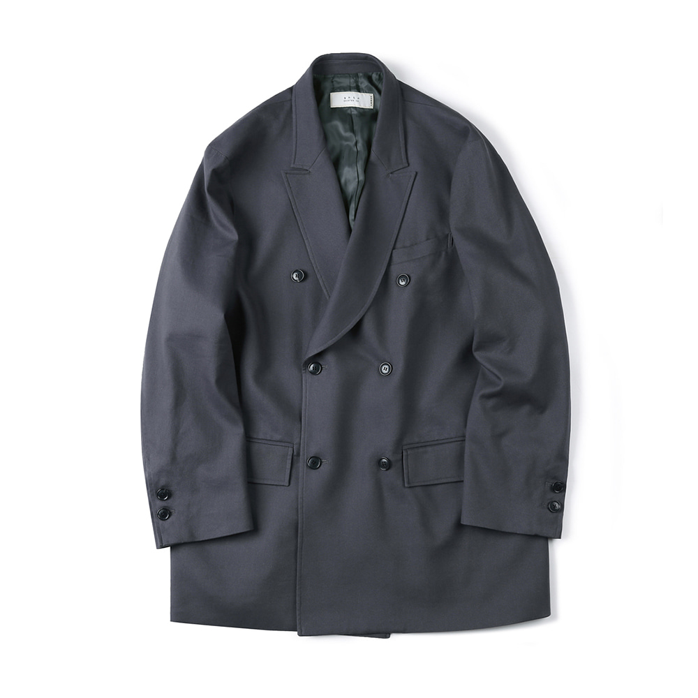 "SHIRTER Soft Lyocell Double Jacket ""Charcoal"""