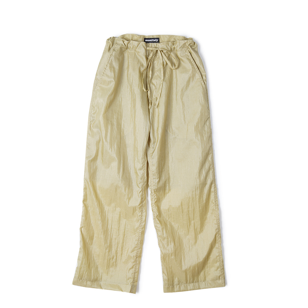 "MONITALY Too Easy Pants ""Taslan Nylon Gold"""