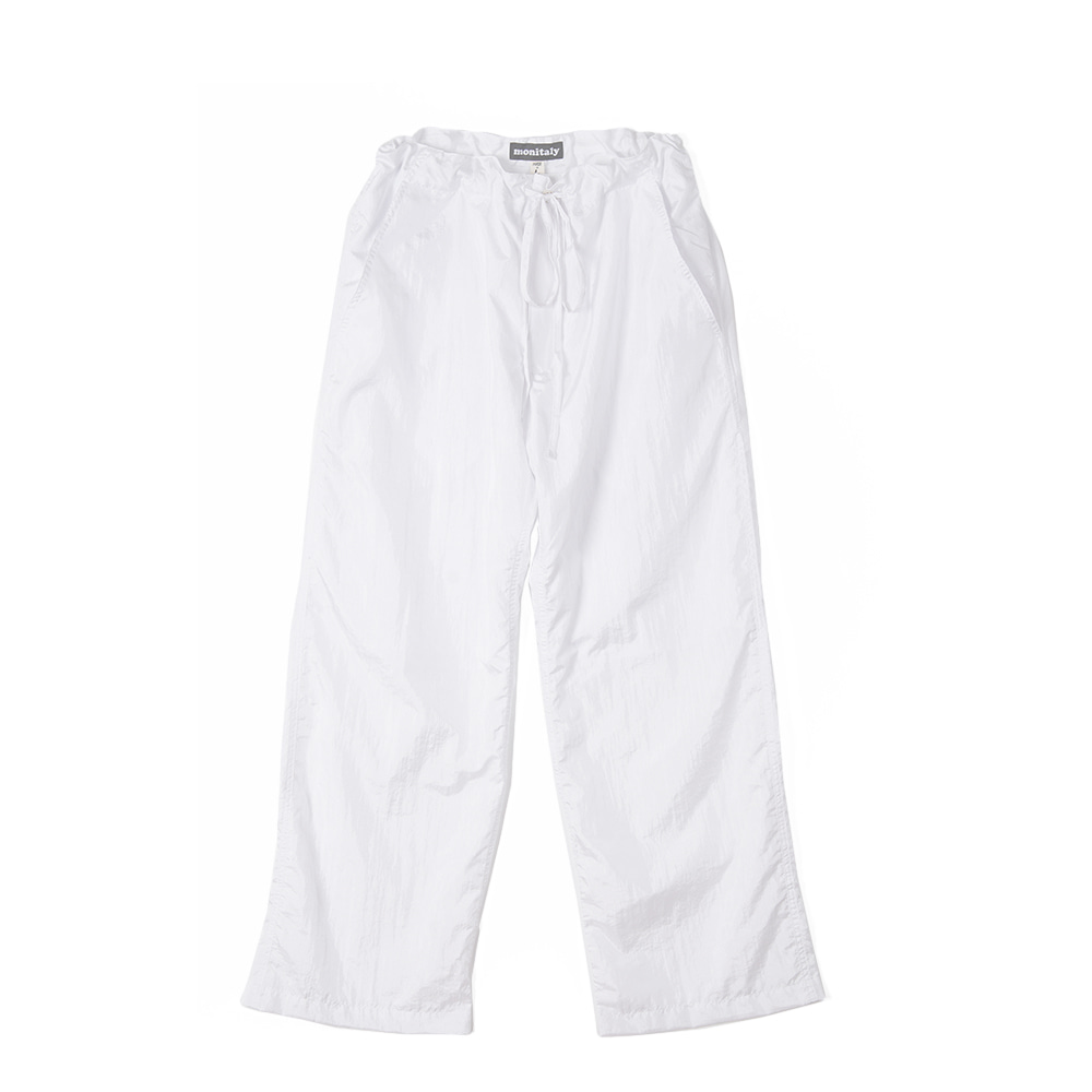 "MONITALY Too Easy Pants ""Taslan Nylon White"""