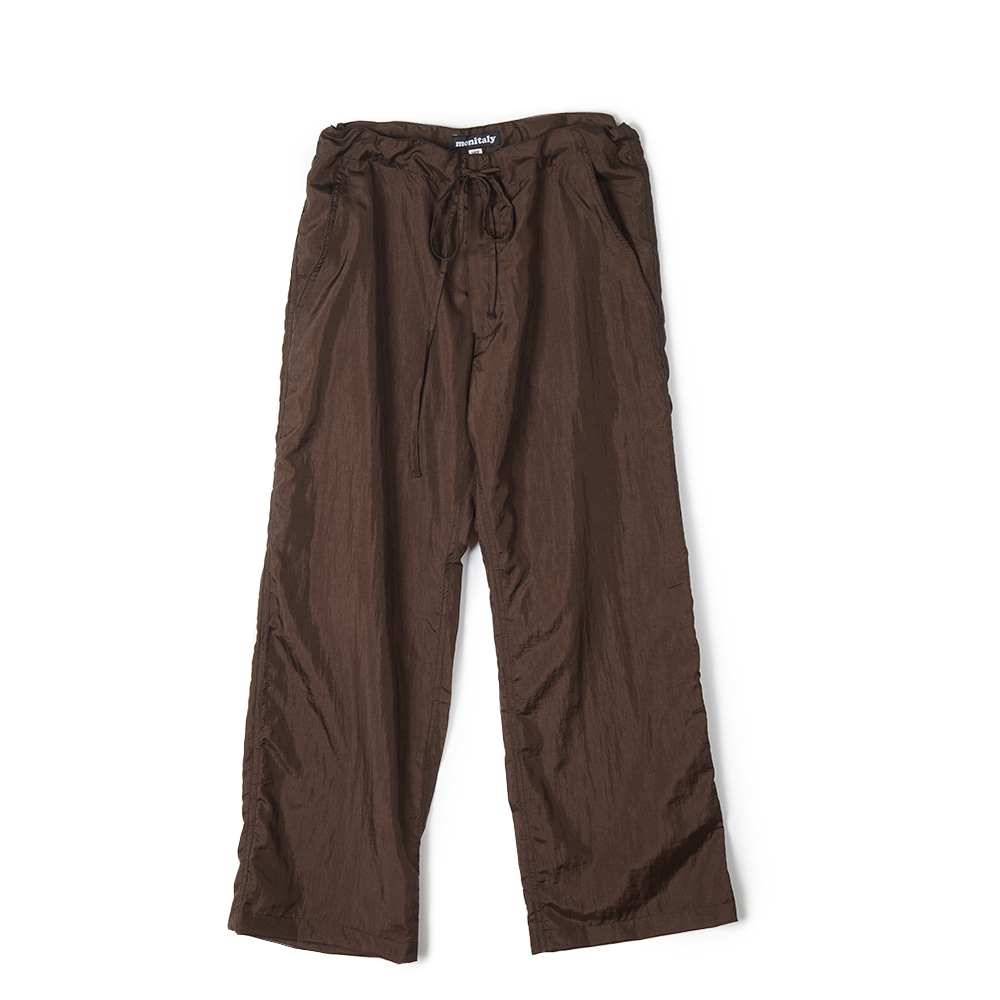 "MONITALY Too Easy Pants ""Taslan Nylon Brown"""