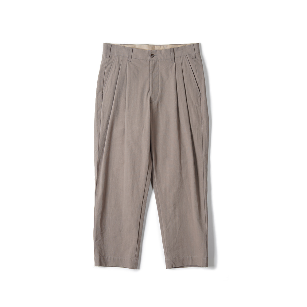"Sage De Cret 9/10 Length Two Tack Pegtop Pants ""Beige"""