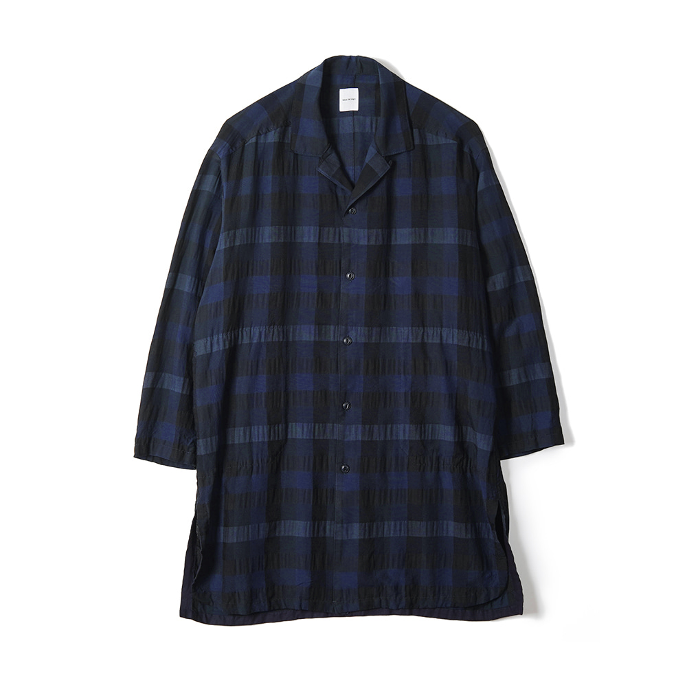 "Sage De Cret Shirt Coat ""Navy"""