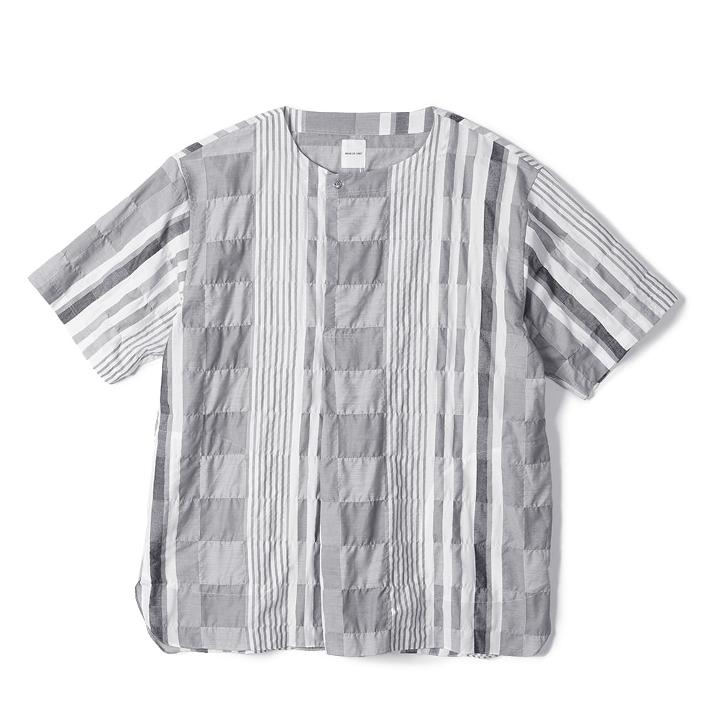 "Sage De Cret 6/10 Sleeve Careless Shirt ""Gray"""