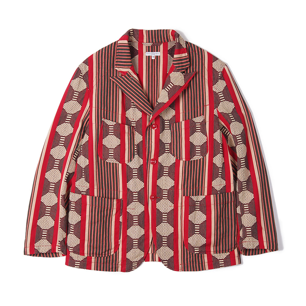 "ENGINEERED GARMENTS Bedford Jacket ""Red Ethnic Jacquard Stripe"""