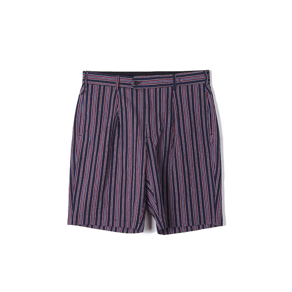 "ENGINEERED GARMENTS Sunset Short ""Navy/Red Seersucker Alternate Stripe"""