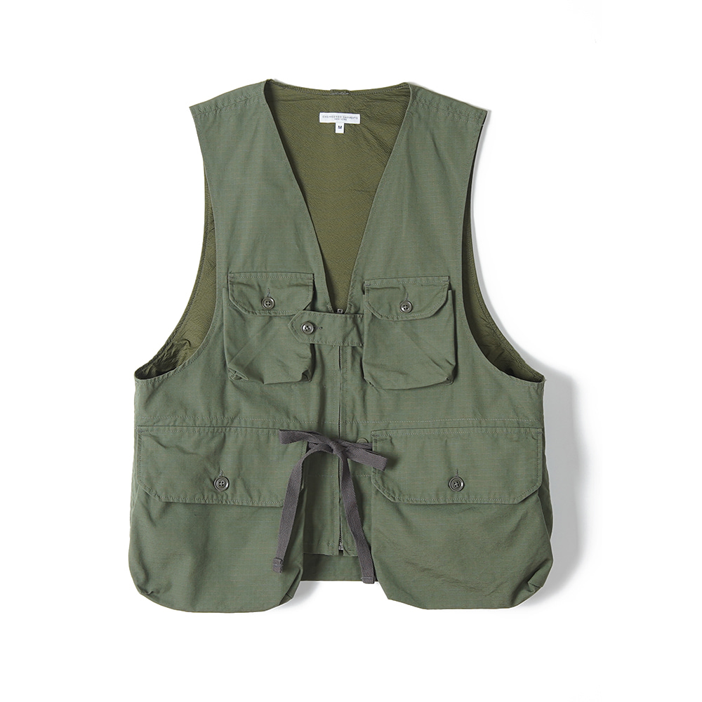 "ENGINEERED GARMENTS Game Vest ""Olive Cotton Ripstop"""