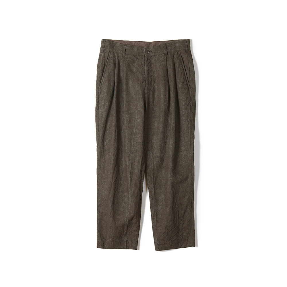 "Sage De Cret 9/10 Length Two Tack Pegtop Pants ""Brown"""