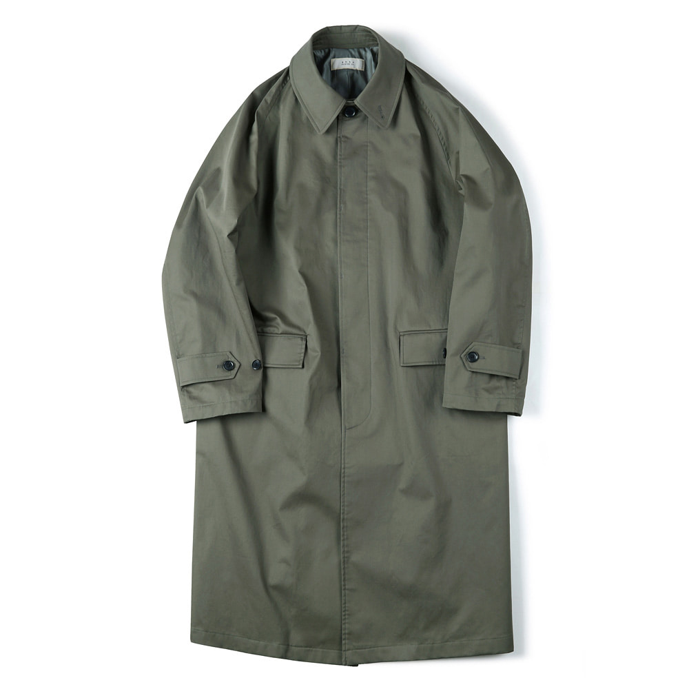"SHIRTER Waterproof Coating Balmacaan Coat ""Olive"""