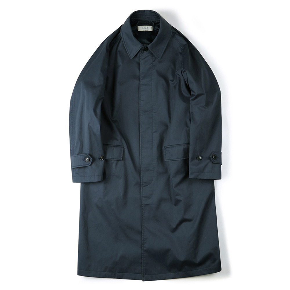 "SHIRTER Waterproof Coating Balmacaan Coat ""Navy"""