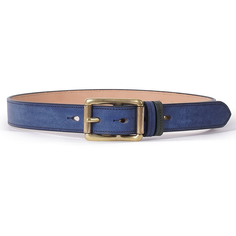 "BURGUS PLUS Double Roller Belt ""Navy"""