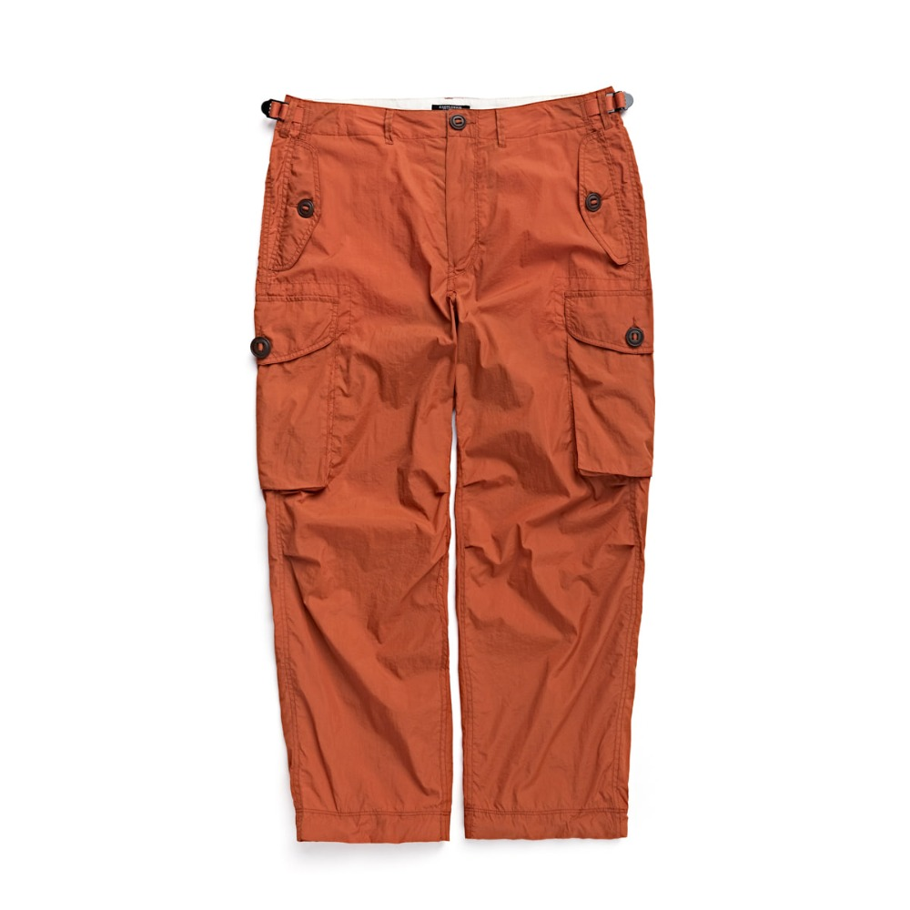 "EASTLOGUE Combat Pants ""Orange Nylon Washer"""
