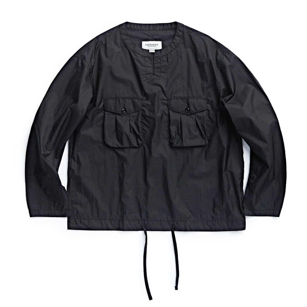 "EASTLOGUE Field Pullover Shirt ""Black Nylon Ripstop"""