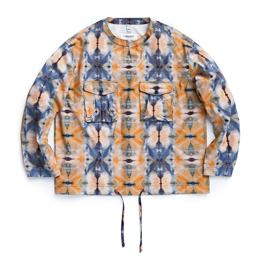 "EASTLOGUE Field Pullover Shirt ""Navy & Yellow Tie Die"""