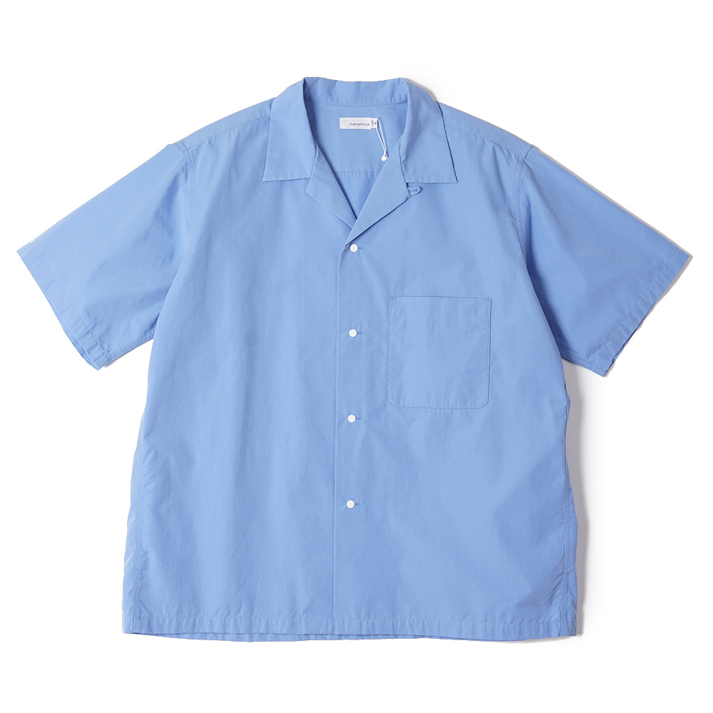 "NANAMICA Open Collar Wind H/S Shirt ""Sax"""