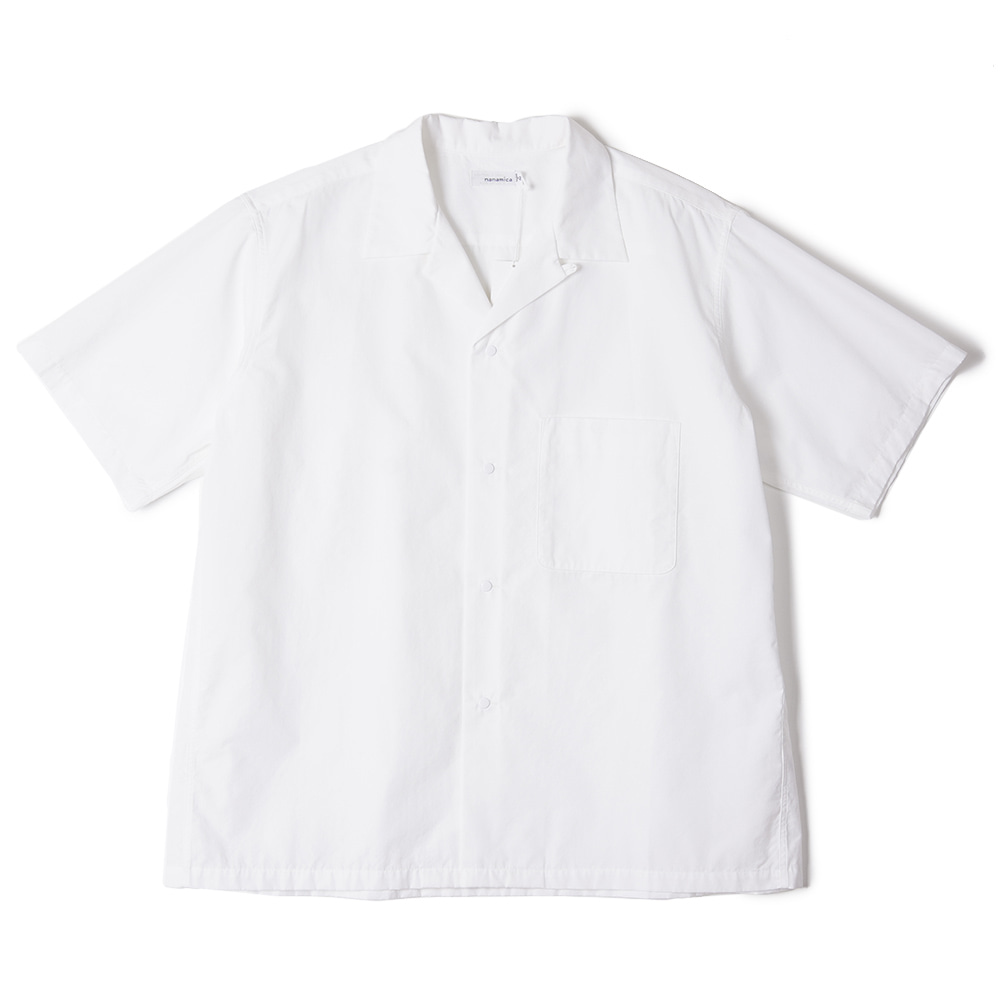 "NANAMICA Open Collar Wind H/S Shirt ""White"""