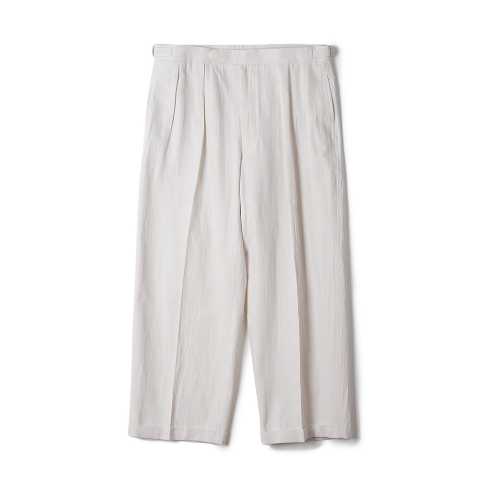 "OOPARTS Paper Yarn Zen Setup Pants ""White"""