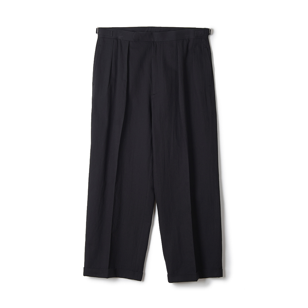 "OOPARTS Paper Yarn Zen Setup Pants ""Black"""