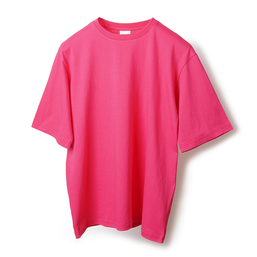 NOCLAIM Colorful Over fit T-shirt / Fuchsia Pink