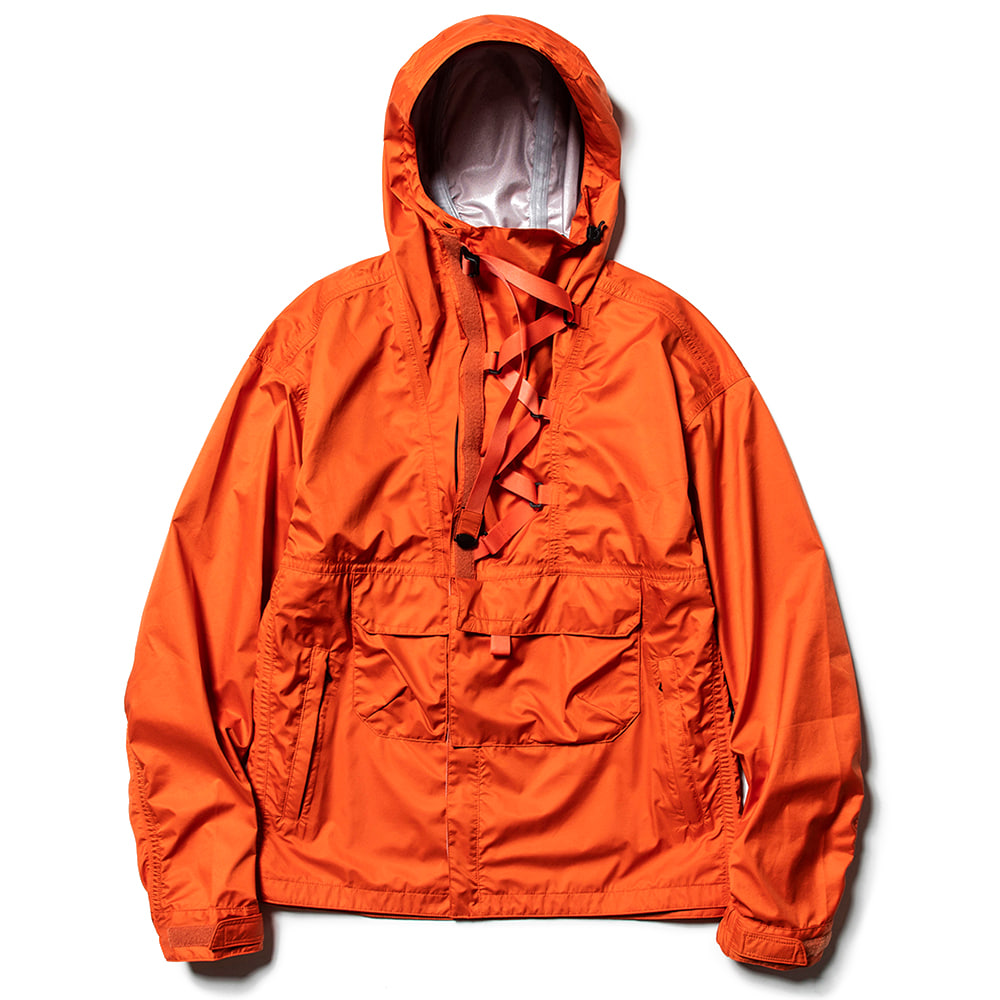 "MEANSWHILE 3 Layer Anorak OP Jacket ""Orange"""