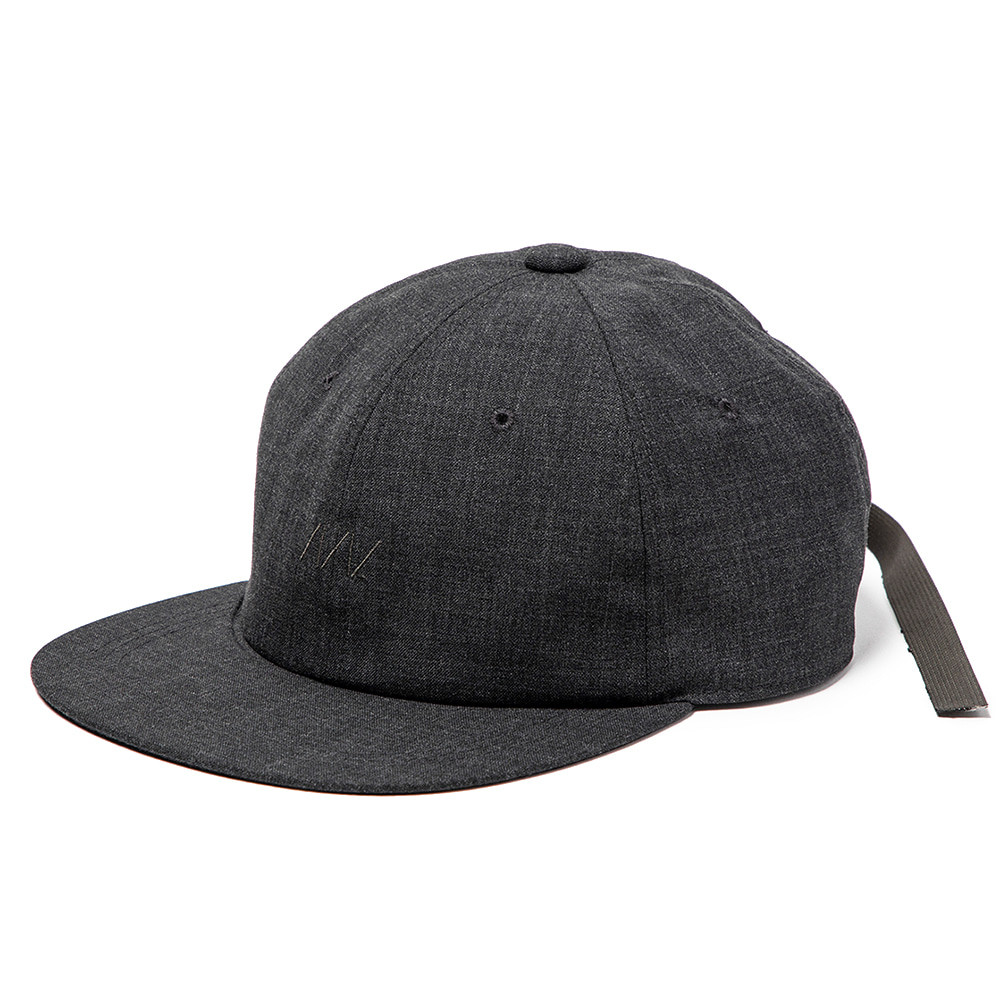 "MEANSWHILE Wool B.B Cap ""Charcoal"""
