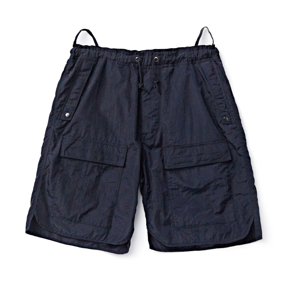 "EASTLOGUE CBR Shorts ""Navy Nylon Washer"""
