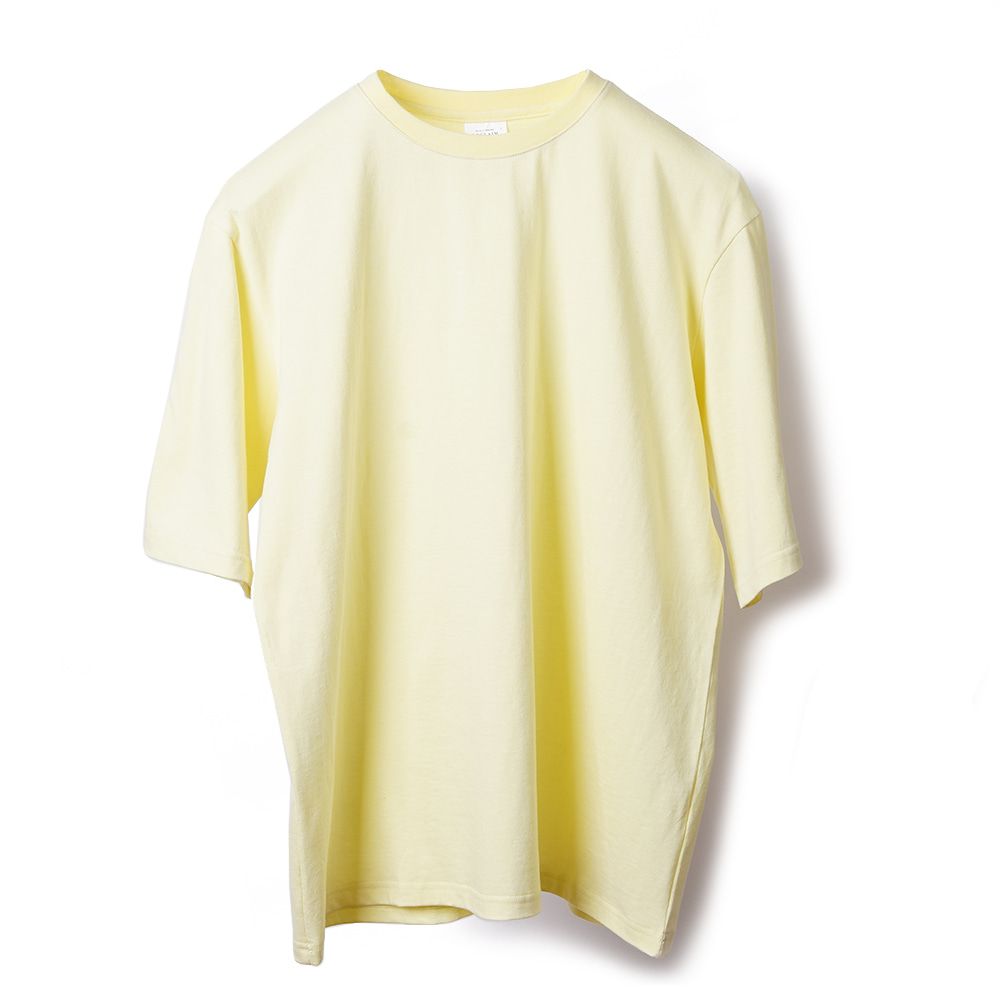 NOCLAIM Colorful Over fit T-shirt / Light Yellow