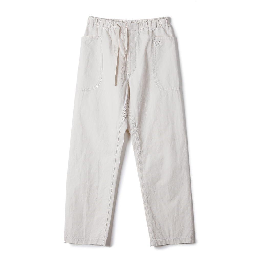 "ORCIVAL Easy Chino Wide Pants ""Ivory"""