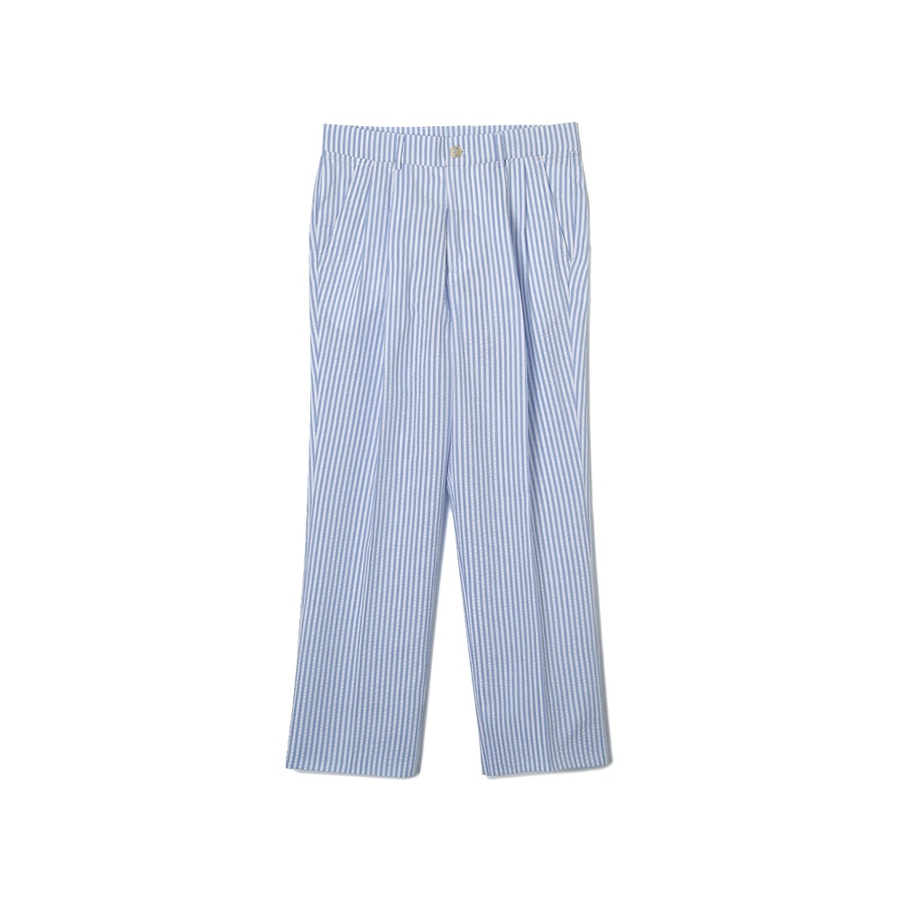 "BANTS WSK Stripe Seersucker Two-tuck Pants ""Skyblue"""