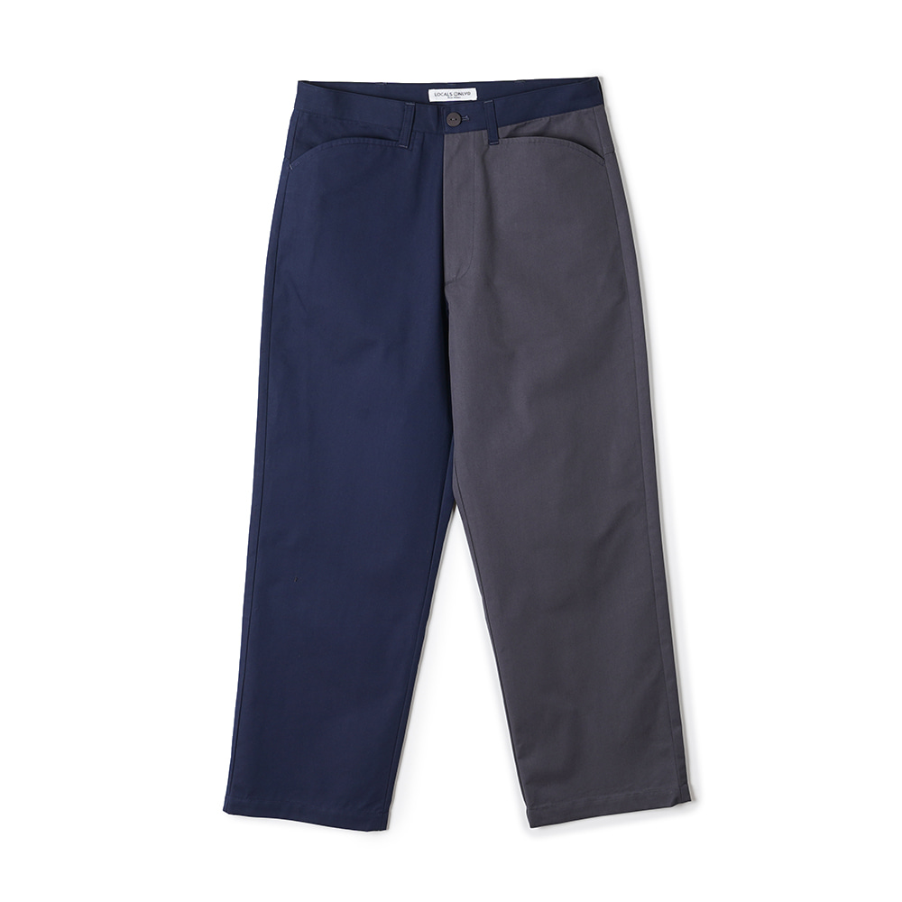 "LOCALS ONLY Two Face Skater pants ""Navy/Charcoal"""