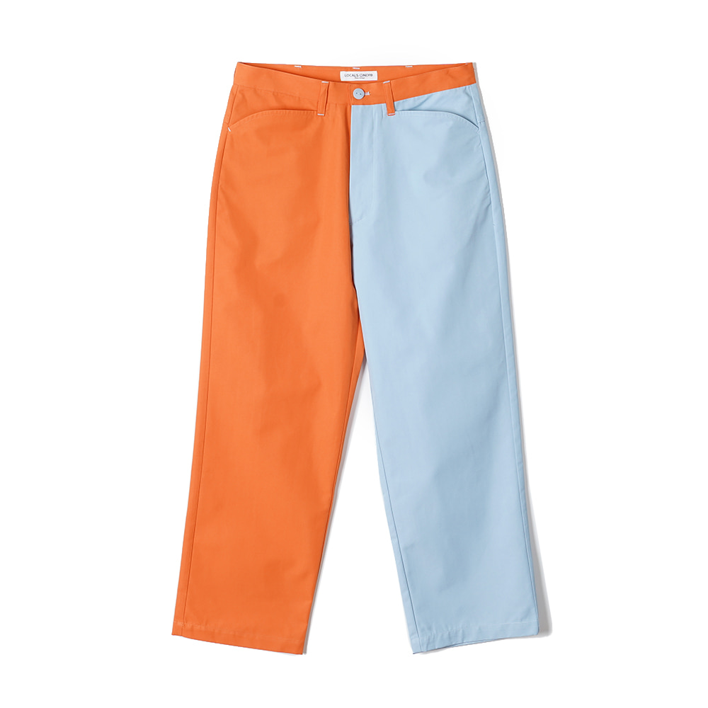 "LOCALS ONLY Two Face Skater pants ""Orange/Skyblue"""