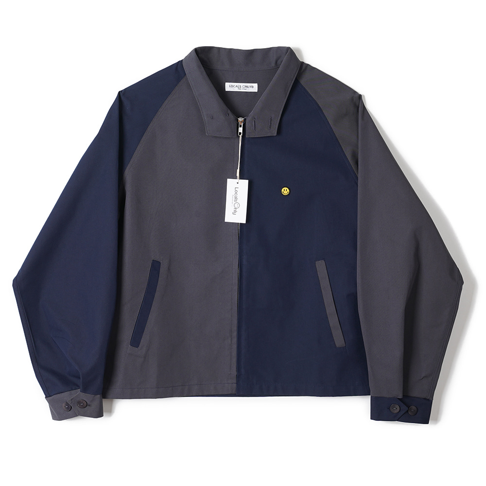 "LOCALS ONLY Two Face Drizzler Jacket ""Navy/Charcoal"""