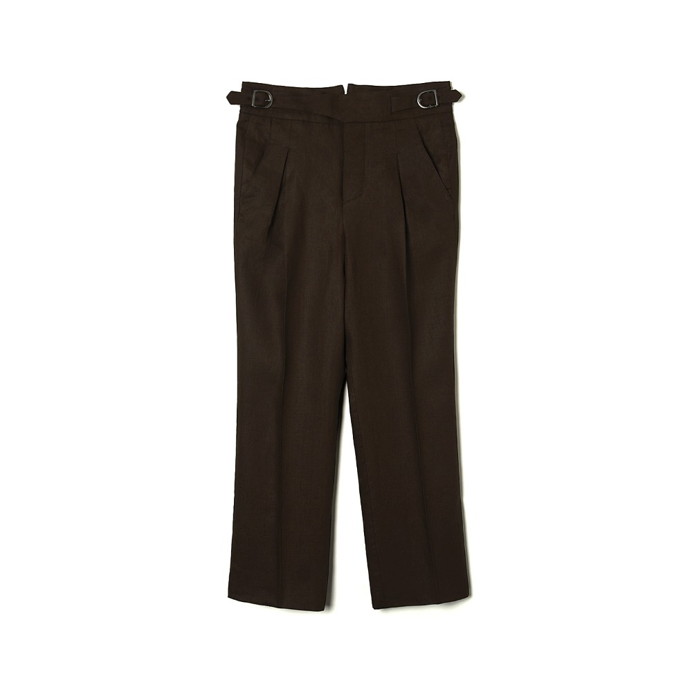 "BANTS WSK Linen Gurkha Pants ""Brown"""