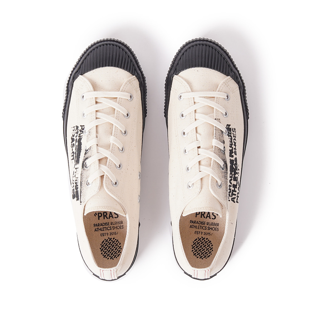 "PRAS Shellcap Low Stencil ""Kinari/Black"""