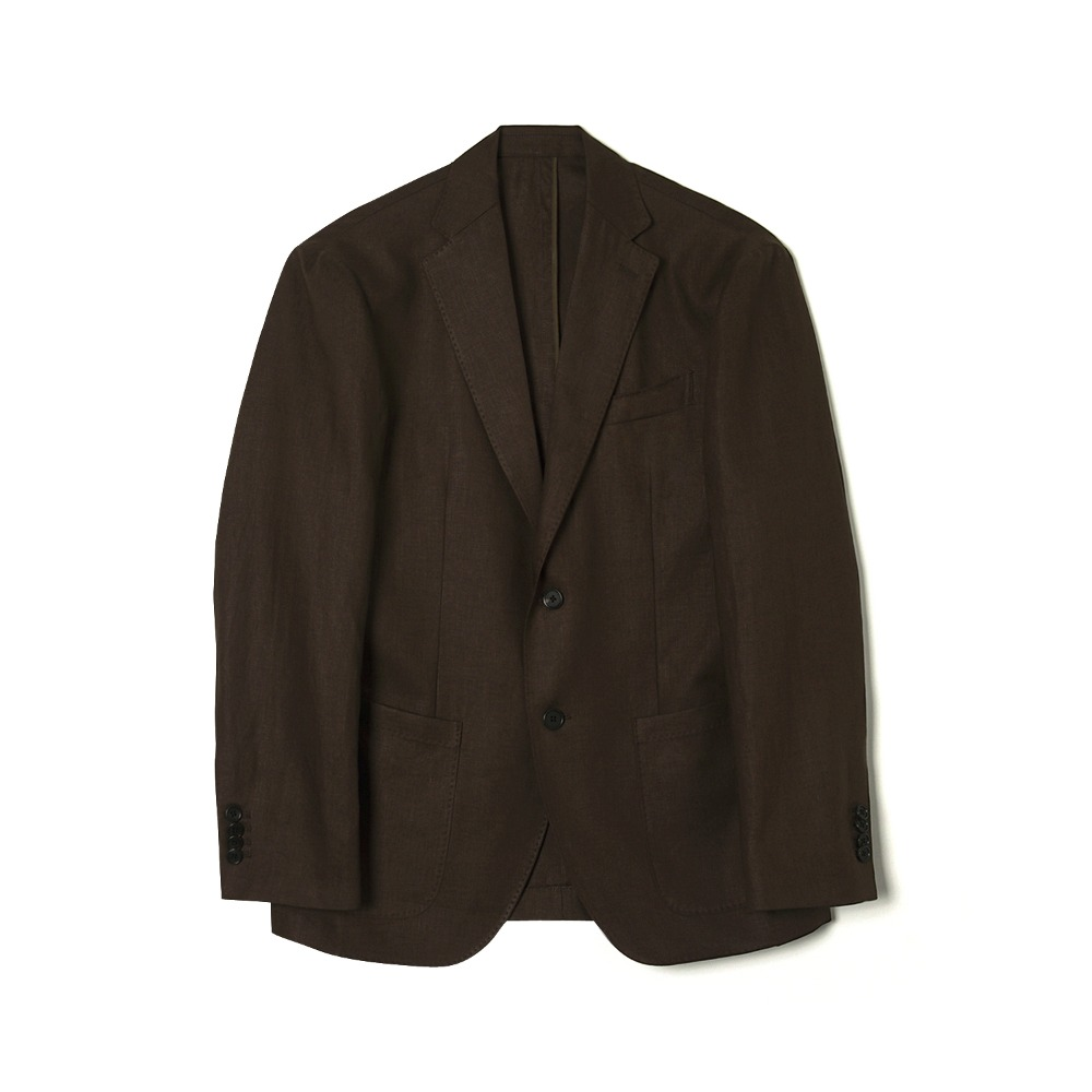 "BANTS WSK Linen 2B Single Jacket ""Brown"""