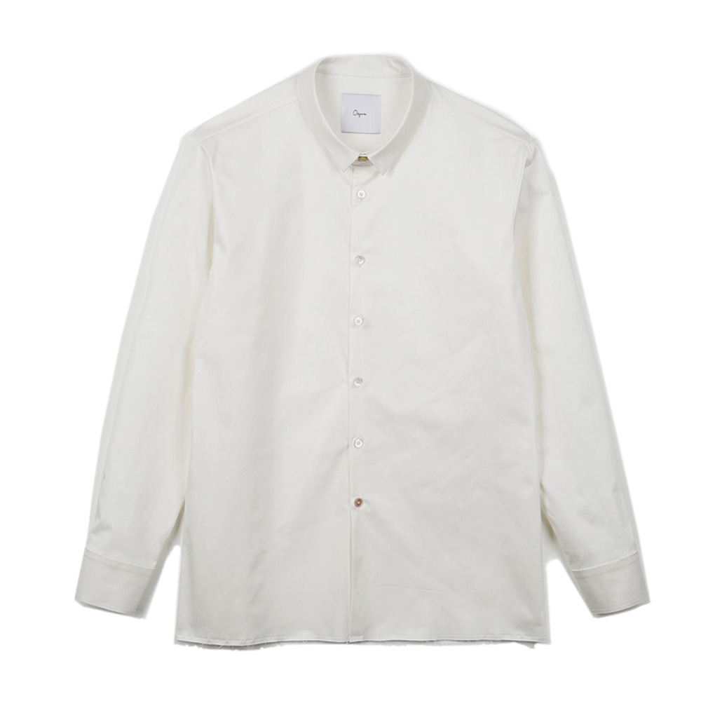 OOPARTS OPT17FWSH01WH French narrow collar shirt White