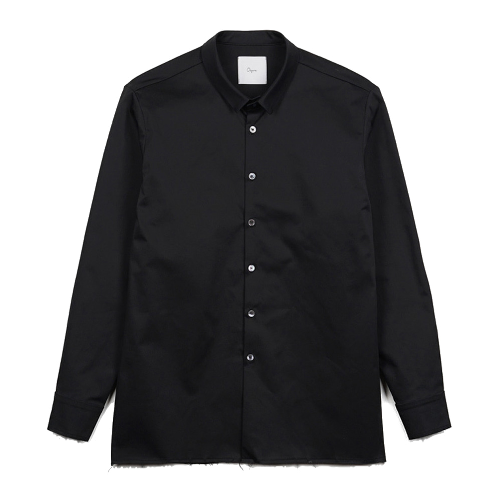 "OOPARTS OPT17FWSH01BK French narrow collar shirt ""Black"""