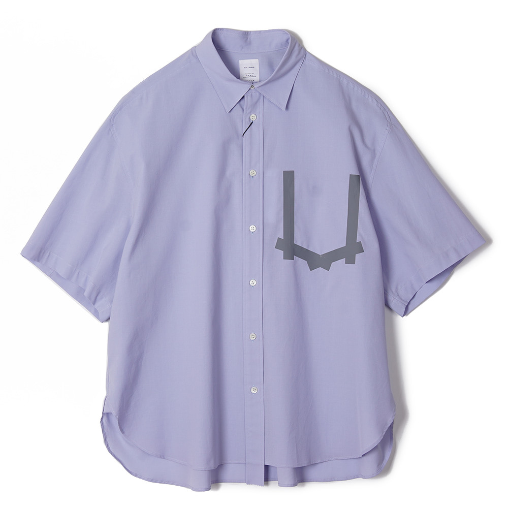 "NAME Cotton Taped Pocket H/S Shirt ""Sax"""