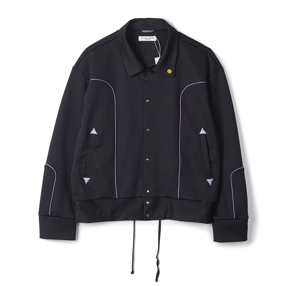 "LOCALS ONLY New Generation Western Track Jacket ""Black/Purple"""