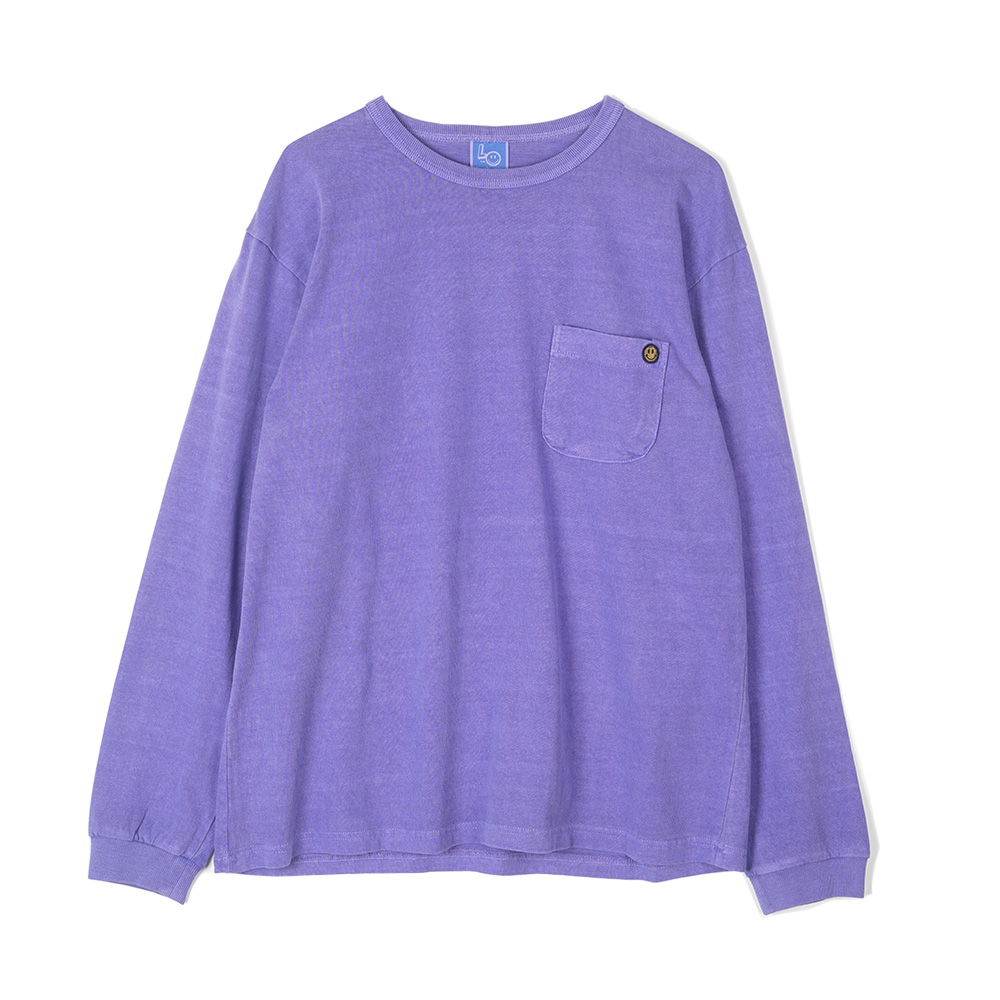 "LOCALS ONLY Garment Dyed Pocket L/S ""Purple"""