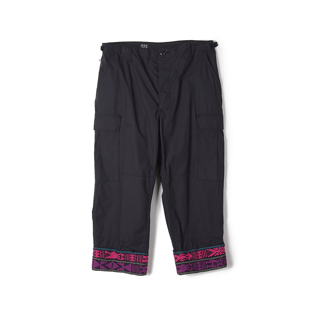 "OAXACA Bdu Tape Pants ""Black"""