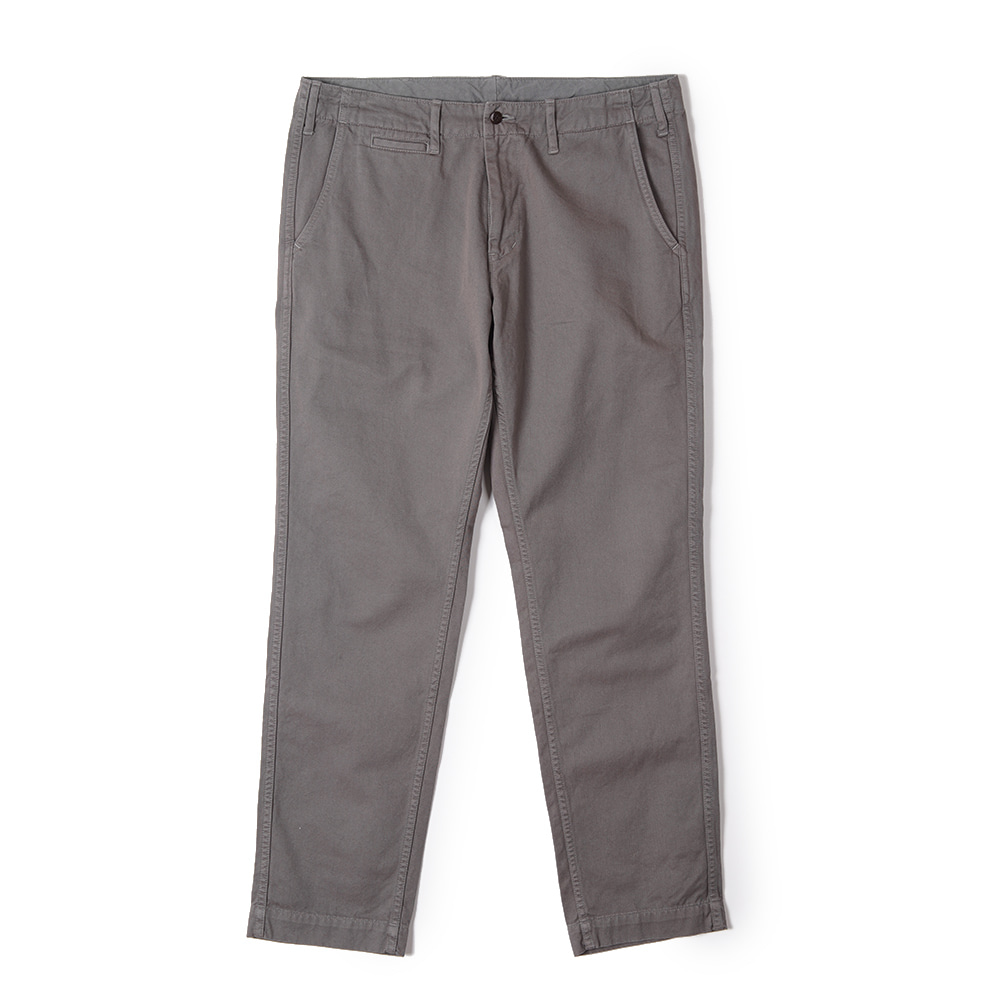 "BURGUS PLUS Over Dyed Color Chino Trousers ""Grey"""
