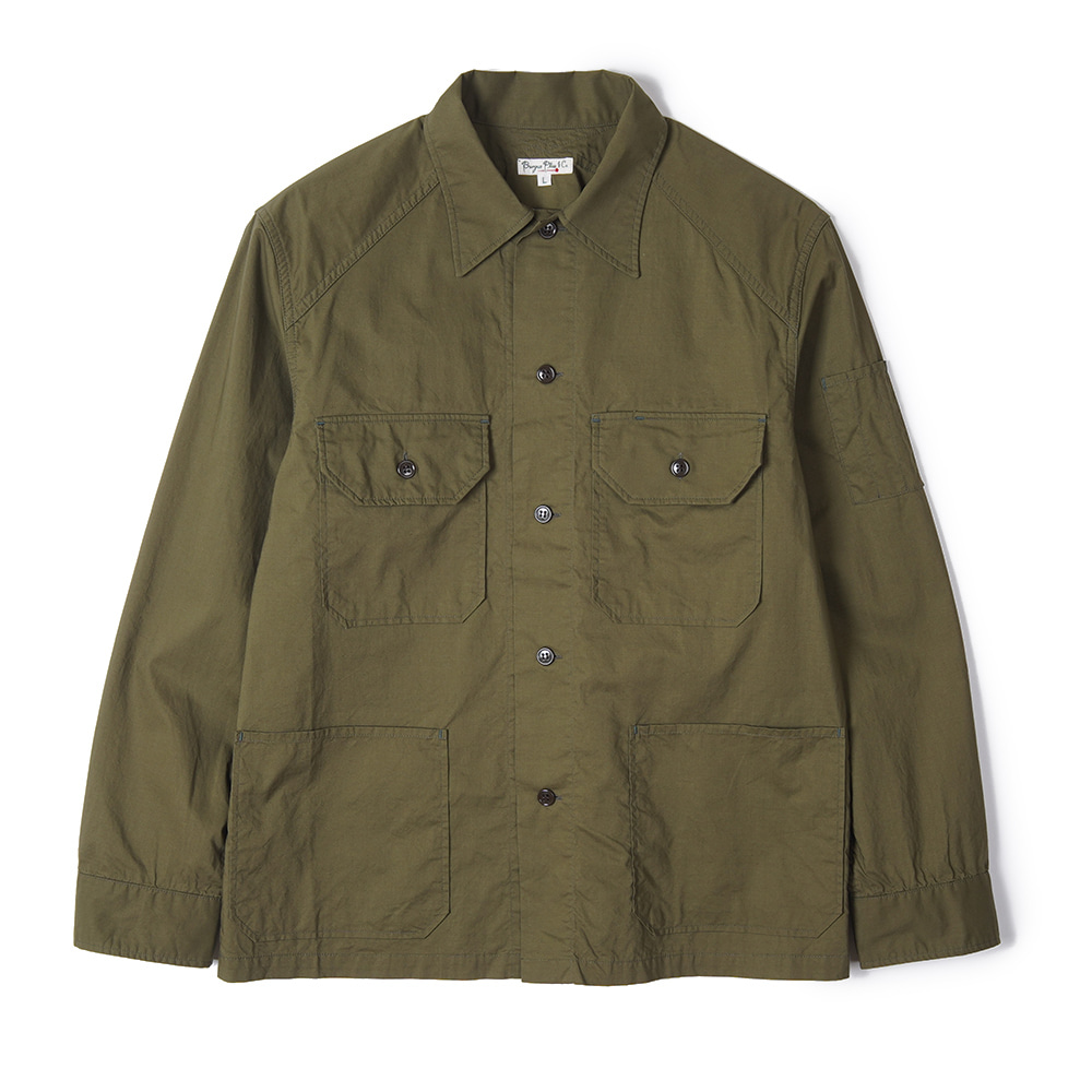 "BURGUS PLUS Millitary Field Shirt Jacket ""Olive"""
