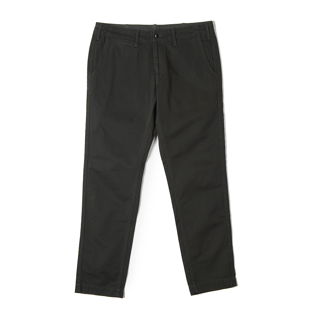 "BURGUS PLUS Over Dyed Color Chino Trousers ""D.Green"""