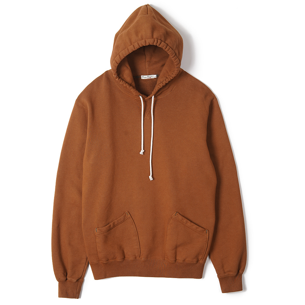 "BURGUS PLUS Over Dyed Hoodie ""Light Brown"""