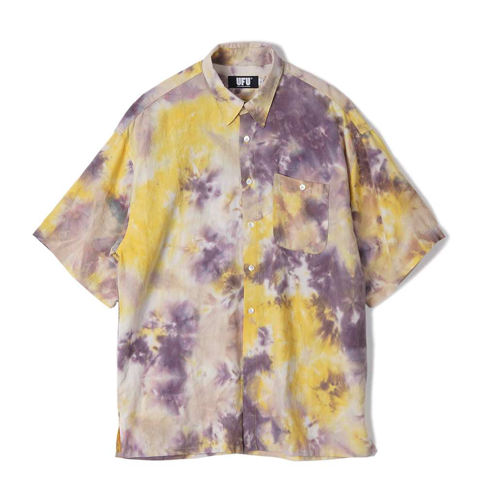 "USED FUTURE Tie Dye Shirt ""Yellow"""