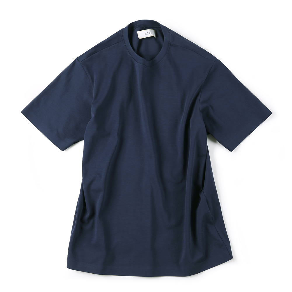 "SHIRTER 02 Seamless Hem T-Shirt ""Navy"""