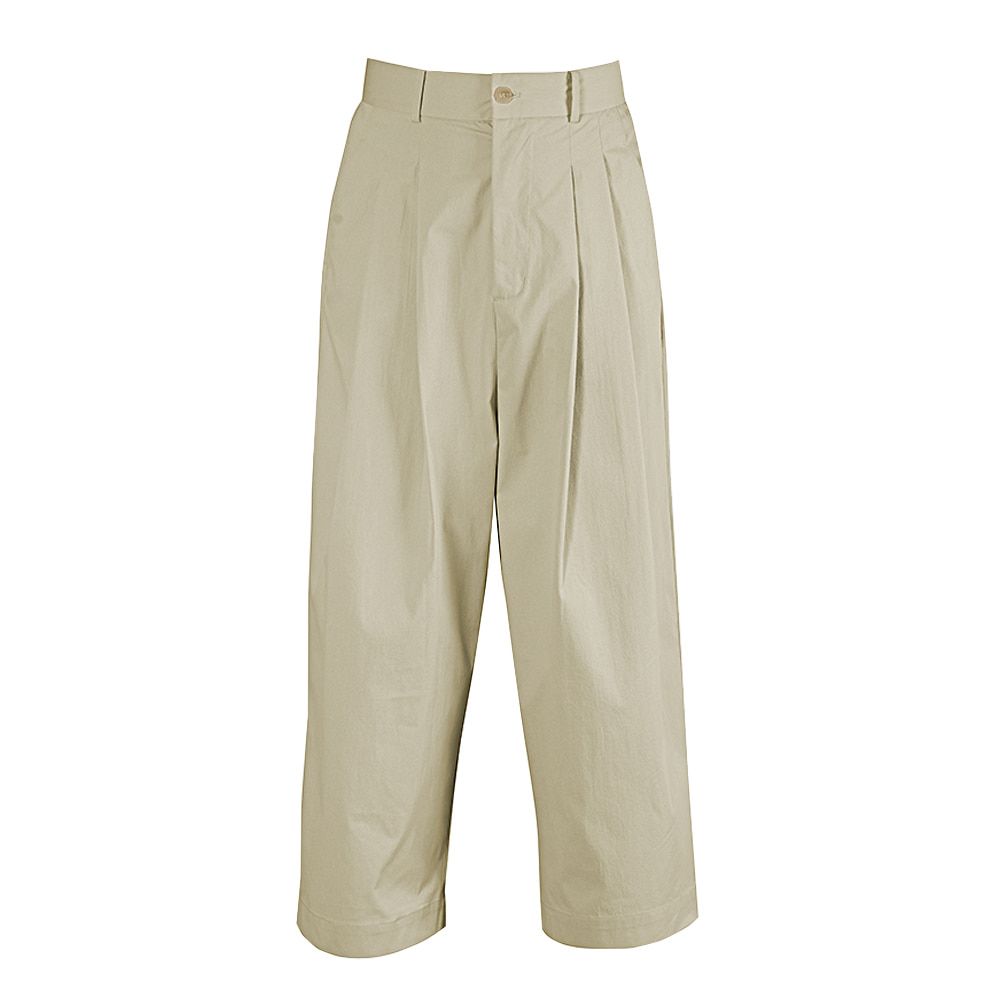 "OOPARTS wide-leg long pants ""Sand"""